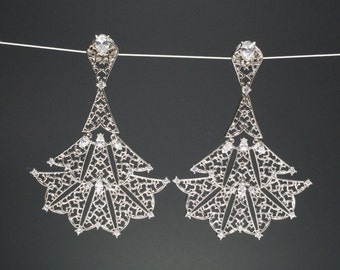Snowflake Angel Maxi - Statement Earrings