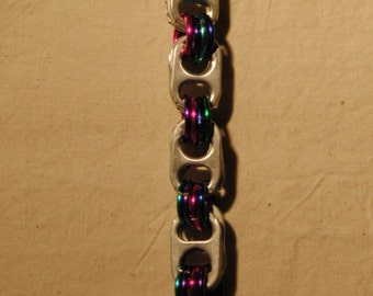 Pop Tab Bracelet (pink, purple, blue, green, turquoise)
