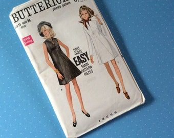 """Vintage Dress Sewing Pattern - Butterick 5506 - Retro 1960's Dressmaking Pattern - Dress Sewing Pattern - Size 16 Bust 38"""" Hip 40"""" Sewing"""