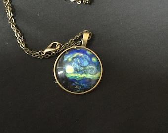 Van Gogh Starry night pendant