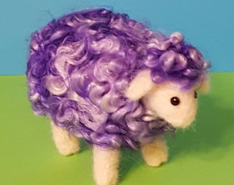 Unique Whimsical needle felted wool sheep sculpture