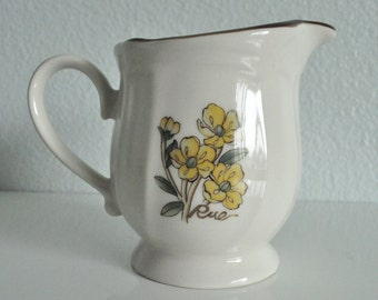 Vintage epoch Milk Creamer Pitcher (Chicory/Rue) Flower Design