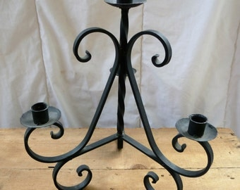 Rustic Wrought Iron Candelabra