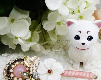 on sale,pink and flower hair pin