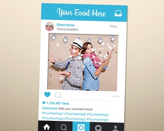 Instagram Style Photo Prop, Instagram Sign, Social Media Photo Prop, Wedding Sign, Instagram Party, Instagram Prop, Photo Booth Prop