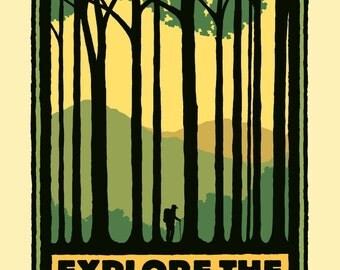 Appalachian Trail -  Vintage Style Travel Poster