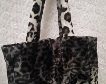 White Leopard Print Purse