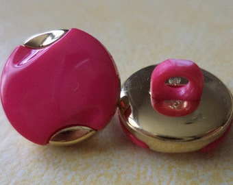 11 small 12 mm (5178) button pink buttons