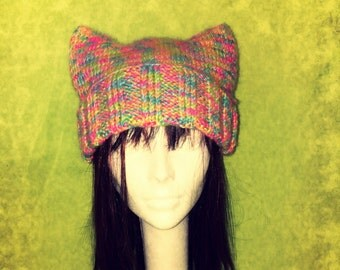 """Dummy's Knitty Kitty """"Sweet Tarts"""" Hat"""