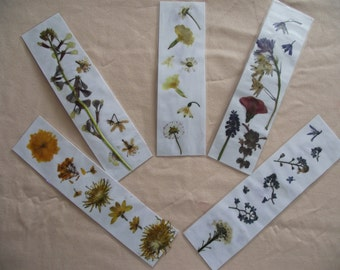Pressed Flower Bookmark- real flowers, unique, gift