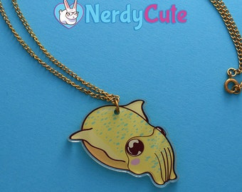 Cuttlefish Acrylic Charm Necklace