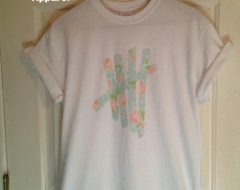 5sos Floral Tally Shirt