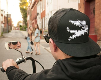 Cat Wings Patch Snapback Hat