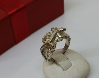 16.5 mm silver ring lizard ring RP120