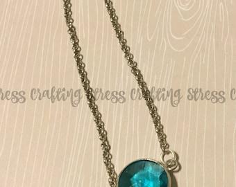 Teal Gemstone Bracelet