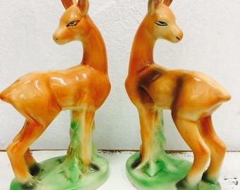 SALE Vintage deer figures