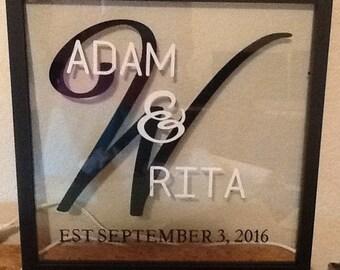 Personalized Wedding Floating Frame