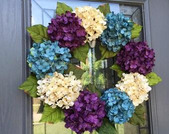 Summer Blues Hydrangea Wreath