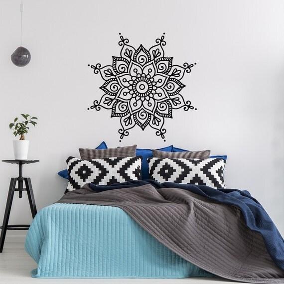 Yoga Studio Wall Decor : Wall decal mandala vinyl yoga studio decor art