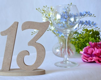 Table numbers Set 1-13 Wooden numbers Wedding table numbers Wedding wooden numbers Wooden table decor DIY table numbers Wedding decor