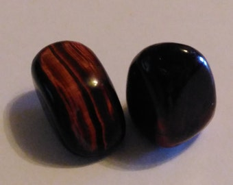 Shiny Red Tigers Eye Tumblestone Crystal ~ Energies of Vibrance and Vitality