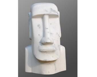 Easter Island head / Moai - Natural Marble