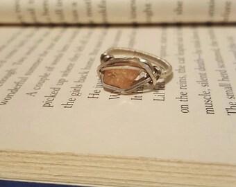 Size 5 Hessonite Garnet Ring