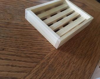 Oversized wooden soap holder