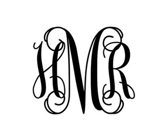 Vinyl Monogram for my preppy people out there
