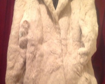 1950's  Ladies Real Fur Cream Jacket