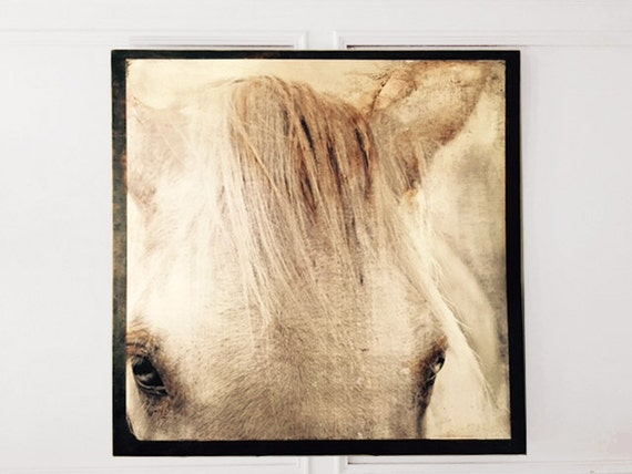 Custom Made hand finished White Horse decorative wall art/Anniversary gift/Mothers Day gift