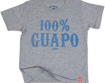 100% GUAPO  - Crewneck Tee Heather Grey