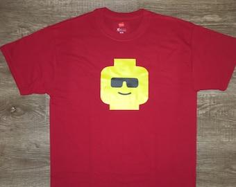 Lego Dude Tee / Lego head shirt / lego guy
