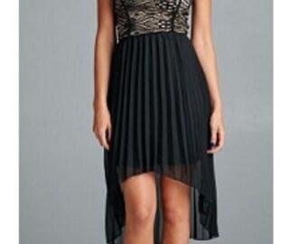 Midnight Kisses Dress:  Black