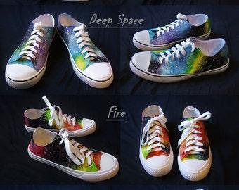 Pastel Galaxy Shoes | Glow in the Dark | Glitter