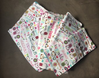 Blanket, Swaddle and Burp Cloths