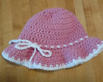 Hand crocheted Baby Sun Hat