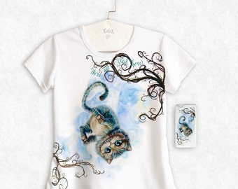 Cheshire Cat / Alice Through the Looking Glass (2016) / T-Shirt + Phone Case