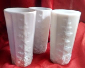 Tumblers  Westmoreland  Milk Glass   3