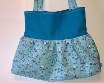 Shoulder bag Tote shopper bag blue turquoise