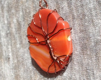 Red Magma Tree of Life Pendant