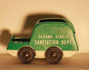 Vintage Little People Sesame Street Sanitation Truck