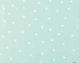 Mint off white mini triangle