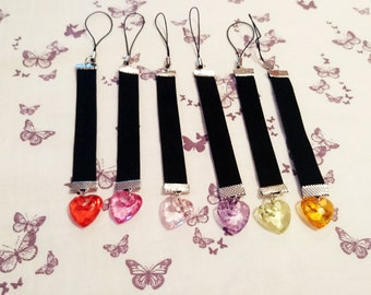 Velvet Heart Charms In Multiple Colours