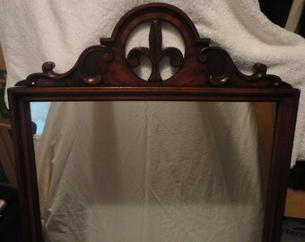 Antique Chippendale Mahogany Frame Mirror