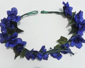 Violet Floral Crown