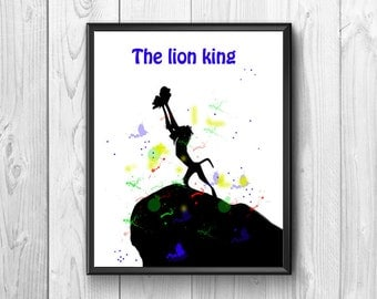 The Lion King, King posters Lion Lion King print, wall poster, Lion King