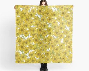 Yellow Daisy Scarf