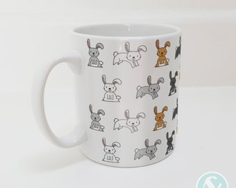 Cute Bunny Rabbit Pattern Mug - Animals - Bunnies - Rabbits - Pets - Gift