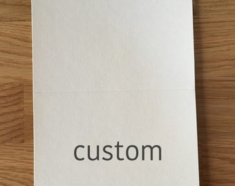 Custom** 3pk Cards